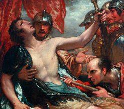 The Death of Epaminondas (study) | Benjamin West | Oil Painting