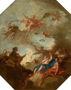 Apollo and the Muses (design for a ceiling) | Marco Ricci | Oil Painting