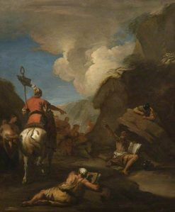Hiero of Syracuse Calling upon Archimedes to Fortify the City | Sebastiano Ricci | Oil Painting
