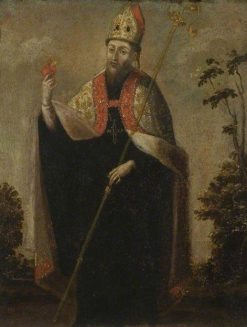 Saint Augustine | Spanish School th Century   Unknown | Oil Painting