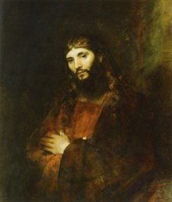 Christ with Arms Folded | Rembrandt van Rijn | Oil Painting