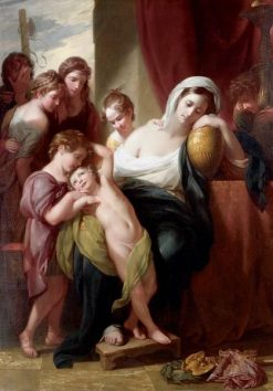 Agrippina and Her Children Mourning over the Ashes of Germanicus | Benjamin West | Oil Painting