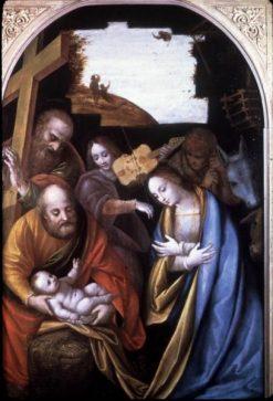 The Nativity with Saint Philip | Bernardino Lanino | Oil Painting