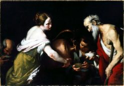 An Act of Mercy: Giving Drink to the Thirsty | Bernardo Strozzi | Oil Painting