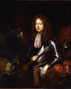 Portrait of a Man in Armor   Caspar Netscher   Oil Painting
