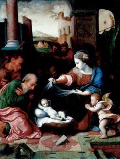 Nativity   Cornelis van Cleve   Oil Painting