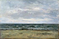 Marine Scene   Eugene Louis Boudin   Oil Painting