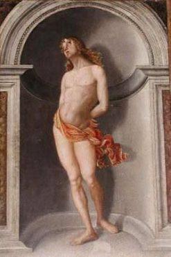 Saint Sebastian | Francesco di Bosio Zaganelli | Oil Painting