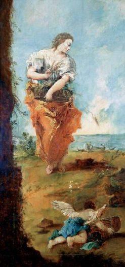 Allegorical Figure of Abundance | Francesco Guardi | Oil Painting