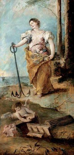 Allegorical Figure of Hope | Francesco Guardi | Oil Painting