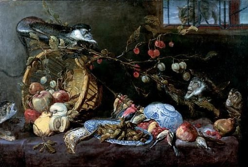 Still Life with Fighting Monkeys | Frans Snyders | Oil Painting