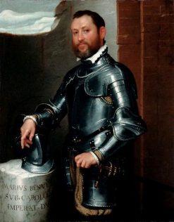 Portrait of Mario Benvenuti | Giovanni Battista Moroni | Oil Painting