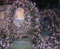 La roseraie au crepuscule | Henri Le Sidaner | Oil Painting