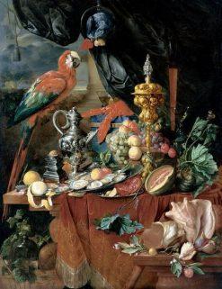 Still Life with Parrot | Jan Davidsz. de Heem | Oil Painting