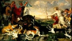 Atalanta and Meleager Hunt the Calydonian Boar | Jan Fyt | Oil Painting