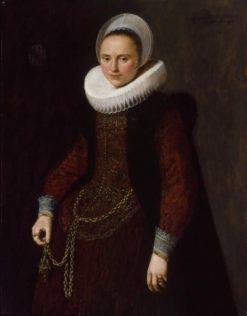 Portrait of Maria Bultel | Jan van Ravesteyn | Oil Painting