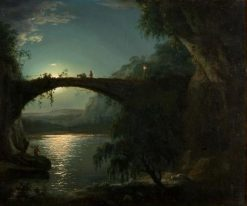 Moonlight Landscape | Joseph Wright of Derby | Oil Painting