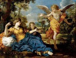 Hagar and the Angel   Pietro da Cortona   Oil Painting