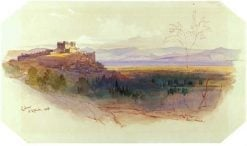 View of Celano   Edward Lear   Oil Painting