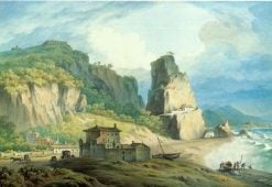 View of Terracina on the Coast Between Rome and Naples   John Warwick Smith   Oil Painting