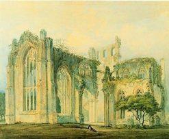 Melrose Abbey   Thomas Girtin   Oil Painting