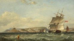Ships off Mumbles | James Harris Senior | Oil Painting