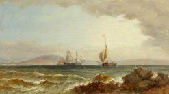 Ships in Swansea Bay | James Harris Senior | Oil Painting