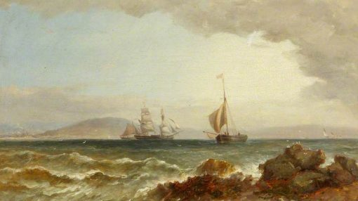 Ships in Swansea Bay | James Harris Senior | Oil Painting