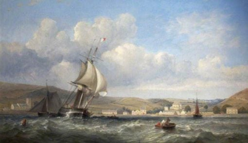 Oystermouth from the Sea | James Harris Senior | Oil Painting