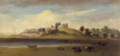 Loughor Castle and Town | William Butler | Oil Painting