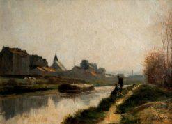 Le canal | Stanislas LEpine | Oil Painting