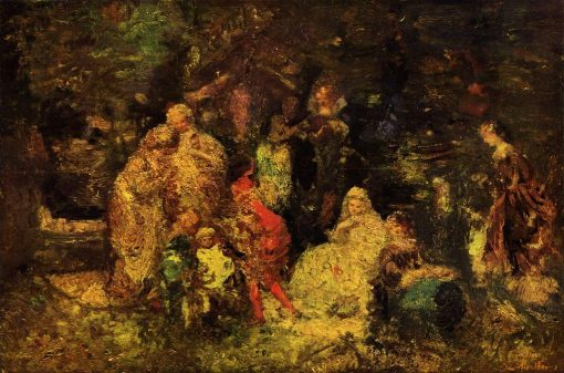 As You Like It   Adolphe Joseph Thomas Monticelli   Oil Painting