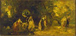 The Halt | Adolphe Joseph Thomas Monticelli | Oil Painting