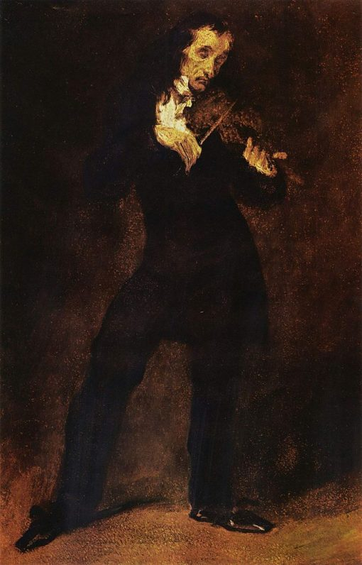 Portrait of Paganini | Eugene Delacroix | Oil Painting