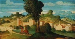 Landscape with Rider   Girolamo da Santa Croce   Oil Painting