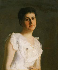 Miss Edith Potter   Julian Alden Weir   Oil Painting