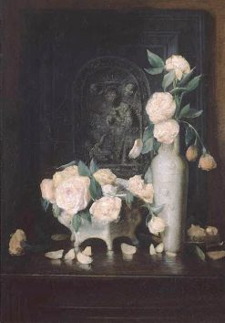 Roses   Julian Alden Weir   Oil Painting