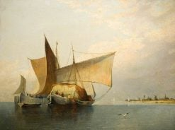 Yacht Scene   James Holland   Oil Painting