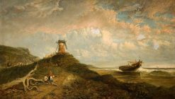 Windmill and the Sea   James Holland   Oil Painting