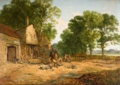 The Wheelwright's Shop | James Holland | Oil Painting