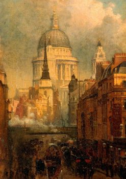 St Paul's from Ludgate Hill | John O'Connor | Oil Painting