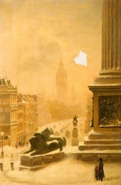 View from the National Gallery   John O'Connor   Oil Painting