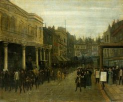 The Haymarket   Walter Greaves   Oil Painting