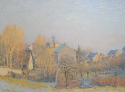 Frosty Morning in Louveciennes | Alfred Sisley | Oil Painting
