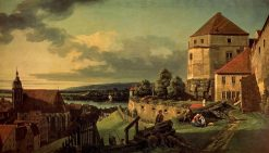 View of Pirna from the Fortress of Sonnenstein | Bernardo Bellotto | Oil Painting