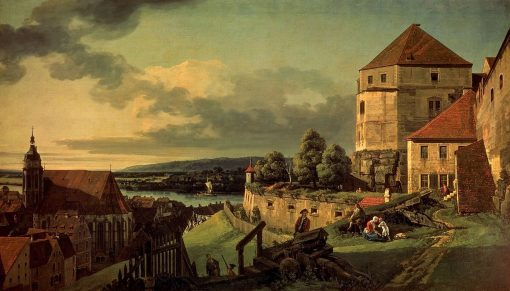 View of Pirna from the Fortress of Sonnenstein   Bernardo Bellotto   Oil Painting