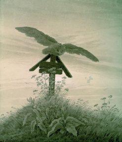 Owl on a Grave | Caspar David Friedrich | Oil Painting