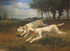 Dogs in the Chase | Constant Troyon | Oil Painting