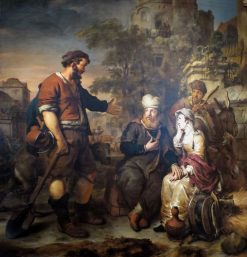 The Levite and His Concubine Invited to Lodge at Gibeah | Gerbrand van den Eeckhout | Oil Painting