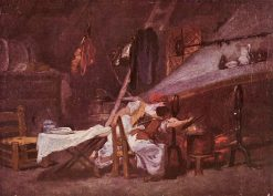 Scene in a Kitchen | Jean HonorE Fragonard | Oil Painting